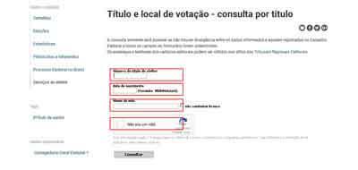 Como pesquisar por título o título e local de votação